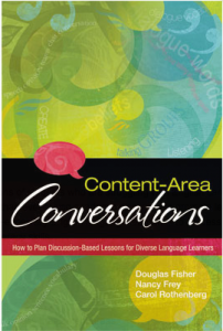 Content Area Conversations Book Cover