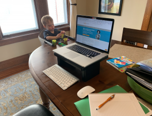 Leo - Child working from home