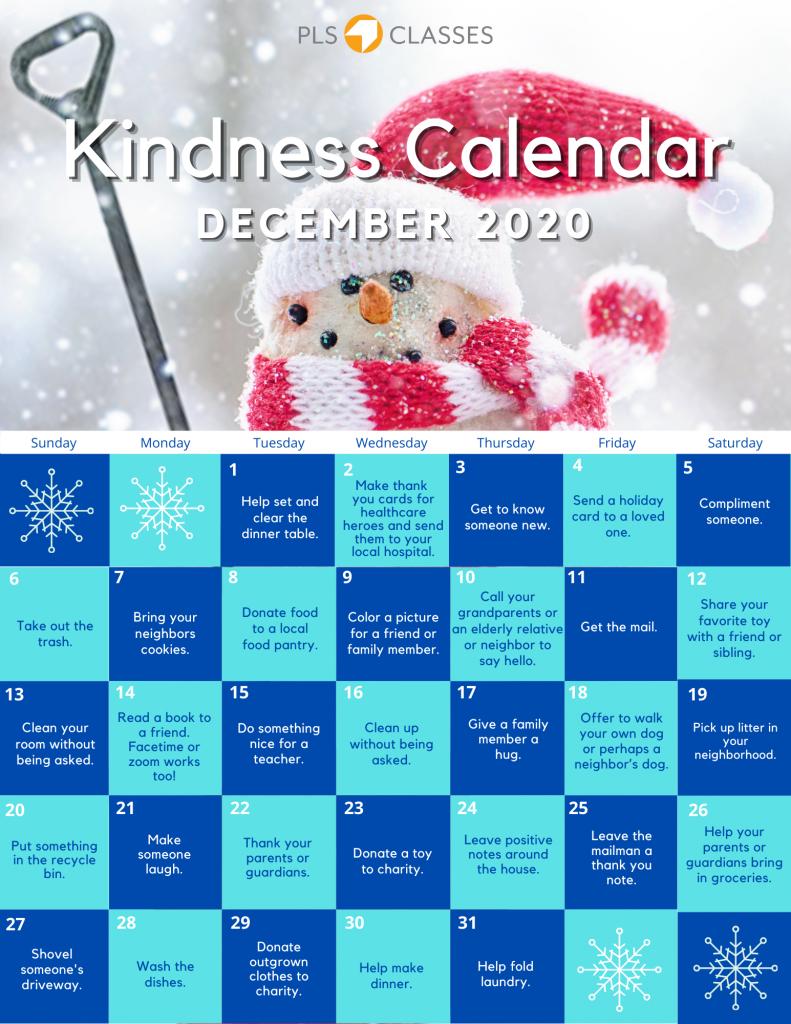 December Kindness Calendar (1)